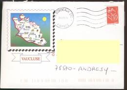 France Enveloppe Vaucluse TAD Bordeaux 20.09.2006 - Marcophilie (Lettres)