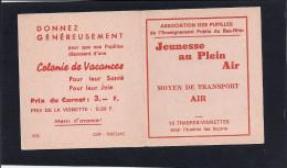 Carnet Complet De 10 Vignettes 1978 - Moyen De Transport Air - Jeunesse Au Plein Air - Superbe état - Aviation