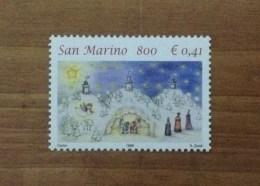 1999 SAN MARINO FRANCOBOLLO NUOVO STAMP NEW MNH** - Natale Presepe - - Nuovi