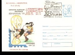 USA 94  1994 ROMANIA ANNULLO SPECIALE ROMANIA ARGENTINA - World Cup