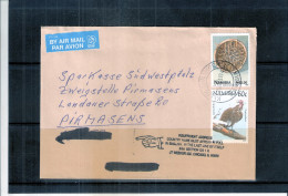 Cover From Namibia To Germany With Insufficient Address (to See) - Namibie (1990- ...)