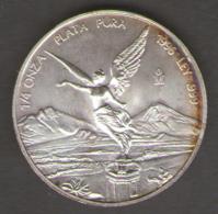 MEXICO / MESSICO - 1/4 SILVER ONCE (1996) PLATA / AG / SILVER - Messico