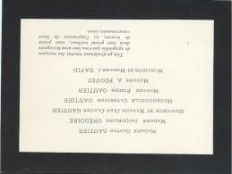 Faire-part De Remerciement + 150 Cartes De Visites De Condoléances + Liste Des Présents /1946   CDV4 - Décès