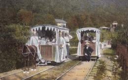 RUSSIA : GEORGIA - CAUCASE : GAGRY / GAGRA : STATION Du TRAMWAY à CHEVAL / HORSE TRAM - YEAR ~ 1910 - RARE !!! (u-060) - Géorgie