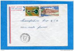MARCOPHILIE-lettre--NLLE CALEDONIE -cad- KOUMAC-1975-2-- Stamp-N°363-musée-+ A134 Postes- Pour FRANCE - Covers & Documents