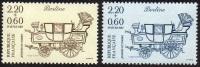 France Philatélie N° 2468 Et 2469** Journée Du Timbre 87 - Berline - Voiture - Carrosse - Tag Der Briefmarke