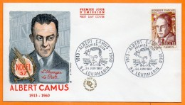 84 LOURMARIN   ALBERT CAMUS    1967 Lettre Entière N° Z 343 - Postmark Collection (Covers)
