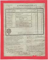 IMPOTS AN 1818 POUR 1819 TAXE FONCIERE POUR JEAN SECHER HABITANT LE HAUT VILLAGE COMMUNE DE SAINT JULIEN DE CONCELLES - Vieux Papiers
