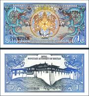 Bhutan 1 Ngultrum 1986  UNC - Bhutan