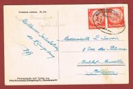 Bahnpost Marienburg - Eydtkuhnen  Auf Karte Nach Belgien - Germany