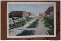 "RUSSIA. KRASNOYARSK. ""Krasnoyarski Rabochy"" Newspaper Prospect  (w Tram) OLD PC 1964- Rare Edition -tramway 0014 - Tramways"