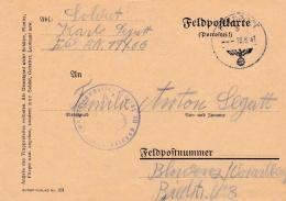 Feldpost WW2: 2. Schwadron Aufklarungs-Abteilung L00. Infanterie-Division  FP 19766 P/m 10.6.1941 - Plain Postcard   (G8 - Militaria