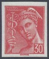 FRANCE 1942 MERCURE 30c RED Nº 547 NON DENTELÉ - 1938-42 Mercure