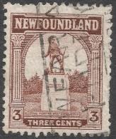 Newfoundland. 1923-24 Definitives. 3c Used SG 151 - 1908-1947