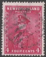 Newfoundland. 1932 Definitives. 4c Used P 13½ SG 224 - 1908-1947