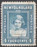 Newfoundland. 1941-44 Definitives. 4c Used P 12½ SG 279 - 1908-1947