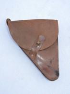 ETUI CUIR MODELE 1916 PISTOLET RUBY  Fabrication Ersatz 14-18 - Equipement