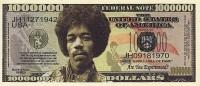 1 000 000 $  Jimmy Hendrix   UNC - Specimen