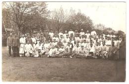 Photo De Groupe : Militaires Allemands Blessés  ( Cachet: BAD NAUHEIM ) - War 1914-18