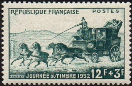 France Philatélie - N°  919 * Journée Du Timbre 1952 - La Malle-poste - Cheveaux - Tag Der Briefmarke