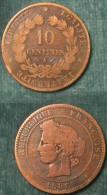 M_p> Francia 10 Centesimi 1880 A - France