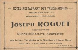 Carte Pubicitaire Monnetier Salève Haute Savoie - Altri Comuni