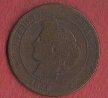 10 Centimes CÉRÈS 1872 (LOT AC8) - D. 10 Centimes
