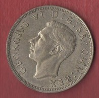ROYAUME UNI : 1/2 CROWN 1943  (LOT AC8) - 1902-1971 : Monnaies Post-Victoriennes