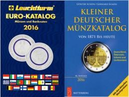 2016 Schön Kleiner Deutschland+Leuchturm EURO-Münzkatalog Neu 27€ Coin D 3.Reich Saar Memel Danzig SBZ DDR AM BRD EUROPA - Matériel