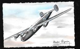 Libérator - Quadri-moteur De Bombardement - Vitesse: 480 Km  - Illustration Signée André Régnier  Hat111 - 1939-1945: 2de Wereldoorlog