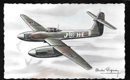 """Westland """" Whirlwind"""" Bi-moteur De Chasse ( Monoplace)  - Illustration Signée André Régnier  Hat116 - 1939-1945: 2de Wereldoorlog"""