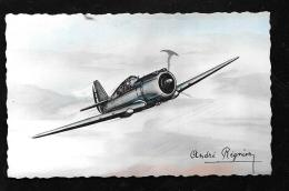 """Curtiss """" Hawk 75 A"""" Monoplace De Chasse - Illustration Signée André Régnier  Hat121 - 1939-1945: II Guerra"""
