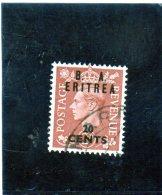 Eritrea - Soprastampati B.  A. Eritrea - 10 Cents - Otros