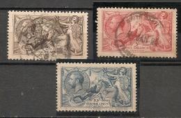 UK - 1918  BRADWURY WILKINSON Sea Horses (meassure 22 3/4) - Vf USED Set SG # 413a/417 - Yvert # 153/156 - Well Centered - 1902-1951 (Kings)