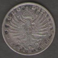 REGNO D' ITALIA - 1 Lira Aquila Araldica (1906)  VITTORIO EMANUELE III / AG SILVER - 1861-1946 : Regno