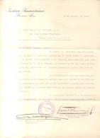 CARTA FIRMADA ORIGINAL POR LOS HISTORIADORES Y PROFESORES LAURENTINO OLASCOAGA Y APELES E. MARQUEZ EN 1941 DIRIGIDA AL G - Autographs