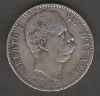 REGNO D' ITALIA - UMBERTO I - 2 Lire (1884) Argento / Silver - 1861-1946 : Regno
