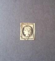 STAMPS FRANCIA 1849 CERES 10 CENT NOIRE JAUNE YVERT N. 3 - 1849-1850 Cérès