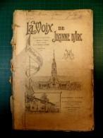 La Voix De Jeanne D'Arc - Bulletin Mensuel De L'oeuvre De Prière Pour L'armée Et Du Monoment National De Domrémy 1913 - Livres, BD, Revues