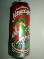 Alt872 Lattina Birra, Boite Biere, Can Beer, Lata Cerveza, Alm Radler Animata Simil Vintage Austria Bicicletta Tandem - Cannettes