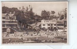 Angleterre -  FELIXSTOWE - THE WEST BEACH AND CLIFF - Animé Estivants Sur La Plage , Bateau Barque De Promenade - CPA - Angleterre