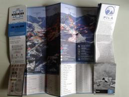 Alt874 Ski Area Pocket Map Mappa Piste Sci Skirama Impianti Risalita Skilift Cablecar Gondola Funivia Pila Valle Aosta - Sport Invernali