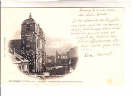 MEUSE - MONTMEDY-HAUT - En 1870 - L'Eglise Et L'Hôtel De Ille Après Le Bombardement - Montmedy