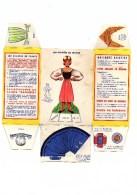 """Boite Banania De 1Kg Série """" Les Poupées De France, Lorraine"""" Des Années 1960. Non Découpé En Bon état - Advertising"""