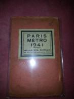 Carte GUIDE CONTY & Carte Taride PARIS METRO 1941 Rues Plans Métropolitain Gares Avenues Monument ...guerre 1939 1945 - Stations, Underground