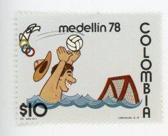 Colombie 1978-Waterpolo-Jeaux D´Amérique Centrale-série 712/27***MNH-VALEUR 32 Euro-Timbre De La Série