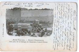 10131 Cpa  DISON - VERVIERS : écoles Communales 1901( Vue Prise De La Fabrique De Chaussures Crutzen Frères ) 2 SCANS , - Dison