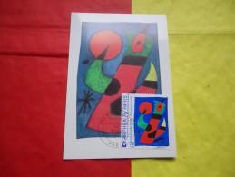 FRANCE (1974) Peinture MIRO - Cartas Máxima
