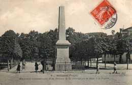 CPA - SENONES (88) - Vue Du Monument Commémoratif De La Réunion De La Principauté De Salm à La France En 1907 - Senones