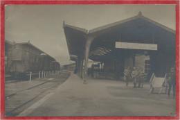 68 - SENNHEIM - CERNAY - Carte Photo - Bahnhof - Gare - Soldats Français - Wagons - Cernay